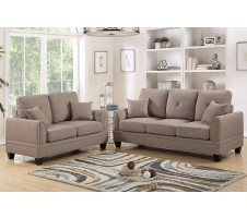 Willow 2pc. Sofa & Loveseat in Coffee