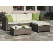Arden Outdoor Sectional and ottoman
