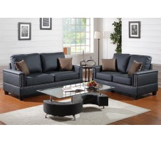 SALE! Cuneo 2pc. Sofa and loveseat in black