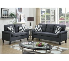 SALE! Tyler 2pc. Sofa and Loveseat in blue grey