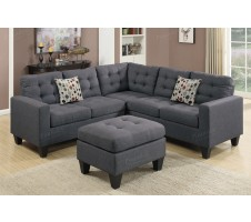 Peta 4pc. Modular sectional with accent pillow