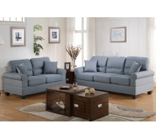 Franklin 2pc. Sofa and Loveseat in grey