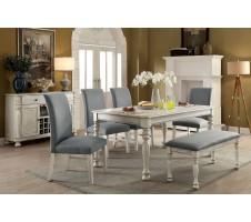 SIOBHAN II 5pc. DINING SET in ANTIQUE WHITE