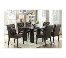 Danette 7pc. Dining Set with espresso color Chairs