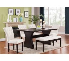 Effie 6pcs Dining Set with Bench