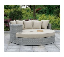 Calio Outdoor Round Sofa and Ottoman set