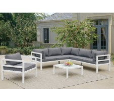 Vallarta Outdoor 5pc. Sectional , Coffee Table, & Chair Set