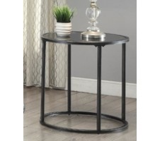 Gunmetal Glasstop End Table