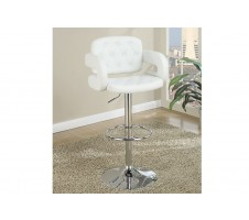 Jaxson Adjustable Barstool in white