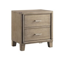 Norway Nightstand in warm grey brown