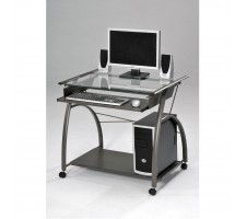 Sanberg Silver Finish Computer Desk