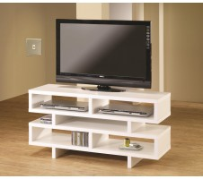 Xuo Contemporary Style White Finish TV Stand