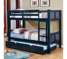Cameron Twin / Twin Bunk Bed - Blue