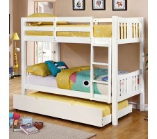 Cameron Twin / Twin Bunk Bed - White