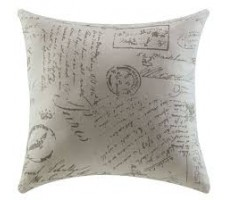 French Script Accent Pillows (set of 2)