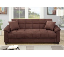 Easton Adjustable sofa with Storage in Chocolate