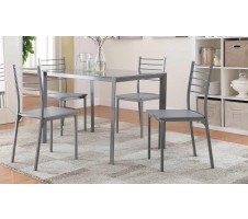 Harton 5pc. Dining set in dark grey