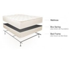3pc. Dream Sleep Queen Mattress & Boxspring & Queen Metal Frame Set