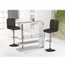 New York 3pc Bar Table & 2 adjustable Stools