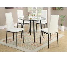 Arlo 5 Piece Dining Set - White