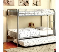 Rainbow Twin / Twin Bunk Bed - Silver
