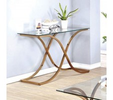 Rene Sofa Table in champagne